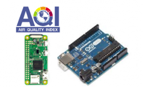 Air quality monitoring IOT – Arduino & sensors connected to a Raspberry Pi
